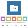 Processing folder flat white icons in square backgrounds - Processing folder flat white icons in square backgrounds. 6 bonus icons included.