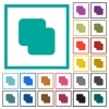 Add shapes flat color icons with quadrant frames on white background - Add shapes flat color icons with quadrant frames