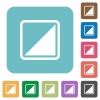 Invert object rounded square flat icons - Invert object white flat icons on color rounded square backgrounds