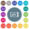 Mobile broker landscape mode flat white icons on round color backgrounds - Mobile broker landscape mode flat white icons on round color backgrounds. 17 background color variations are included.