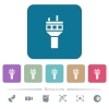 Air control tower flat icons on color rounded square backgrounds - Air control tower white flat icons on color rounded square backgrounds. 6 bonus icons included