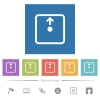 Move object up flat white icons in square backgrounds - Move object up flat white icons in square backgrounds. 6 bonus icons included.