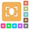 Camera selfie mode rounded square flat icons - Camera selfie mode flat icons on rounded square vivid color backgrounds.
