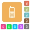 Retro mobile phone rounded square flat icons - Retro mobile phone flat icons on rounded square vivid color backgrounds.