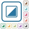 Invert object simple icons - Invert object simple icons in color rounded square frames on white background
