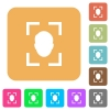 Camera portrait mode flat icons on rounded square vivid color backgrounds. - Camera portrait mode rounded square flat icons