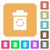 Undelete flat icons on rounded square vivid color backgrounds. - Undelete rounded square flat icons