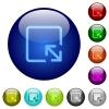 Resize object color glass buttons - Resize object icons on round color glass buttons