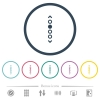 Vertical page navigation flat color icons in round outlines -  Vertical page navigation flat color icons in round outlines. 6 bonus icons included.