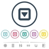 Toggle down flat color icons in round outlines - Toggle down flat color icons in round outlines. 6 bonus icons included.