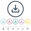 Download symbol flat color icons in round outlines - Download symbol flat color icons in round outlines. 6 bonus icons included.