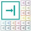Align to right flat color icons with quadrant frames - Align to right flat color icons with quadrant frames on white background
