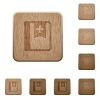 Bookmark on rounded square carved wooden button styles - Bookmark wooden buttons