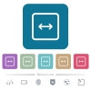 Adjust object width rounded square flat icons - Adjust object width white flat icons on color rounded square backgrounds