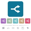 Split arrows flat icons on color rounded square backgrounds - Split arrows white flat icons on color rounded square backgrounds. 6 bonus icons included