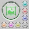 Image free transform push buttons - Image free transform color icons on sunk push buttons