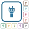 Air control tower simple icons - Air control tower simple icons in color rounded square frames on white background