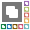 Add shapes square flat icons - Add shapes flat icons on simple color square backgrounds