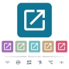 Launch application flat icons on color rounded square backgrounds - Launch application white flat icons on color rounded square backgrounds. 6 bonus icons included