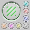 Texture push buttons - Texture color icons on sunk push buttons