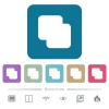 Add shapes flat icons on color rounded square backgrounds - Add shapes white flat icons on color rounded square backgrounds. 6 bonus icons included