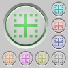 Inner borders push buttons - Inner borders color icons on sunk push buttons