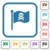 Pirate flag simple icons - Pirate flag simple icons in color rounded square frames on white background