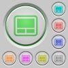Laptop touchpad push buttons - Laptop touchpad color icons on sunk push buttons