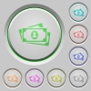 More banknotes with portrait push buttons - More banknotes with portrait color icons on sunk push buttons