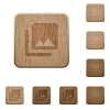 Photo library on rounded square carved wooden button styles - Photo library wooden buttons