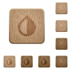 Invert colors on rounded square carved wooden button styles - Invert colors wooden buttons