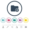 Change directory flat color icons in round outlines - Change directory flat color icons in round outlines. 6 bonus icons included.