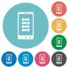 Mobile fine tune flat round icons - Mobile fine tune flat white icons on round color backgrounds