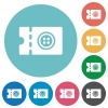 Tailor shop discount coupon flat round icons - Tailor shop discount coupon flat white icons on round color backgrounds