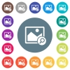 Zoom image flat white icons on round color backgrounds. 17 background color variations are included.