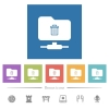 FTP delete flat white icons in square backgrounds - FTP delete flat white icons in square backgrounds. 6 bonus icons included.