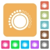 Volume control flat icons on rounded square vivid color backgrounds. - Volume control rounded square flat icons