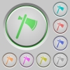 Single tomahawk push buttons - Single tomahawk color icons on sunk push buttons