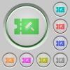 Paint shop discount coupon push buttons - Paint shop discount coupon color icons on sunk push buttons