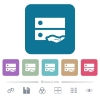 Shared drive flat icons on color rounded square backgrounds - Shared drive white flat icons on color rounded square backgrounds. 6 bonus icons included