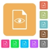 File preview rounded square flat icons - File preview flat icons on rounded square vivid color backgrounds.