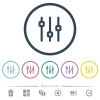 Vertical adjustment flat color icons in round outlines. 6 bonus icons included. - Vertical adjustment flat color icons in round outlines