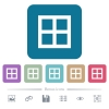 All borders flat icons on color rounded square backgrounds - All borders white flat icons on color rounded square backgrounds. 6 bonus icons included
