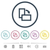 Rotate right flat color icons in round outlines. 6 bonus icons included. - Rotate right flat color icons in round outlines
