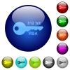 512 bit rsa encryption color glass buttons - 512 bit rsa encryption icons on round color glass buttons