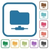 FTP simple icons - FTP simple icons in color rounded square frames on white background