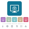 Make screenshot flat icons on color rounded square backgrounds - Make screenshot white flat icons on color rounded square backgrounds. 6 bonus icons included