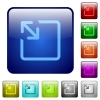 Resize object color square buttons - Resize object icons in rounded square color glossy button set