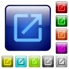 Launch application icons in rounded square color glossy button set - Launch application color square buttons