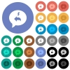 Quick reply message round flat multi colored icons - Quick reply message multi colored flat icons on round backgrounds. Included white, light and dark icon variations for hover and active status effects, and bonus shades.